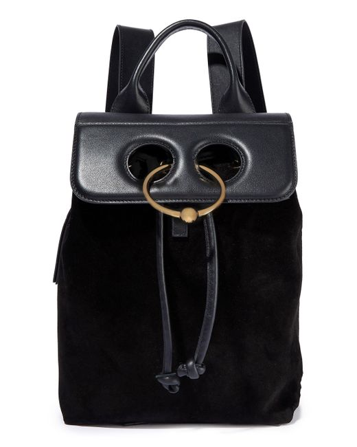 J.W. Anderson - Black Pierce Leather And Suede Backpack - Lyst