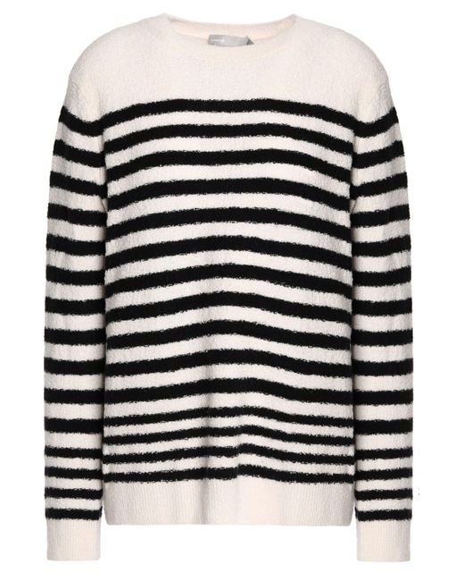 Vince - White Striped Wool-blend Sweater - Lyst