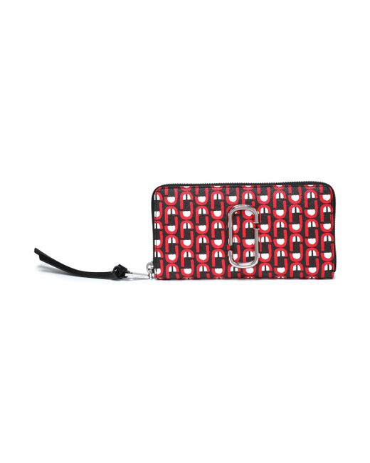 Marc Jacobs - Printed Leather Continental Wallet Black - Lyst