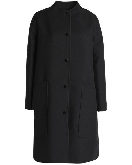 Ganni | Black Crepe Coat | Lyst