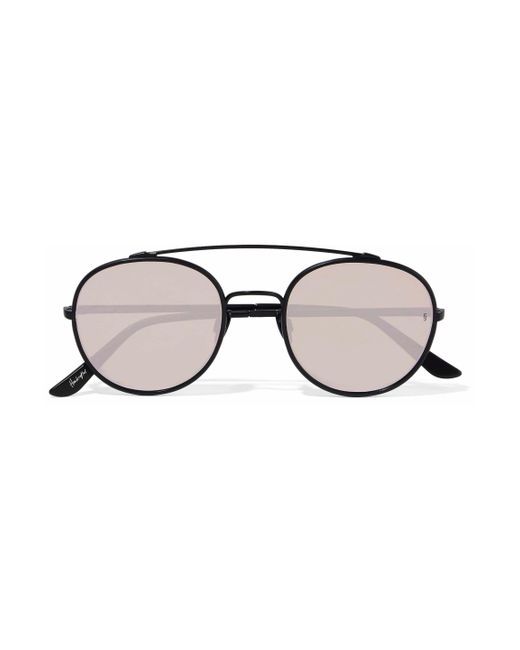 8370a1ee3a332 Sunday Somewhere - Multicolor Woman Parker Aviator-style Metal Mirrored  Sunglasses Taupe - Lyst ...