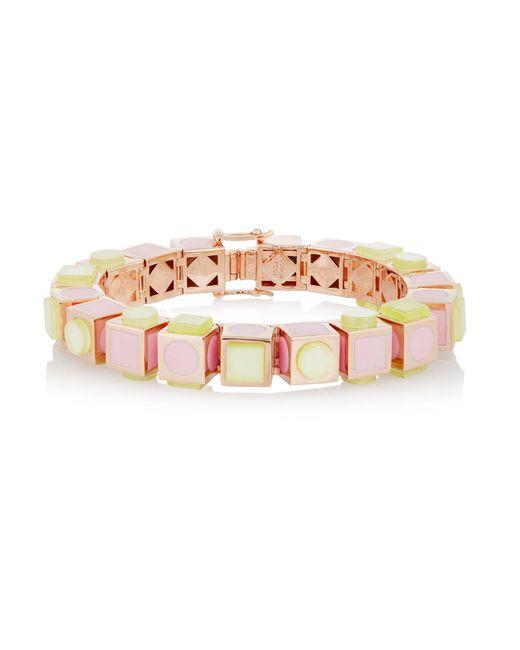 Eddie Borgo | Multicolor Mosaic Cube Rose Gold-plated Bracelet | Lyst