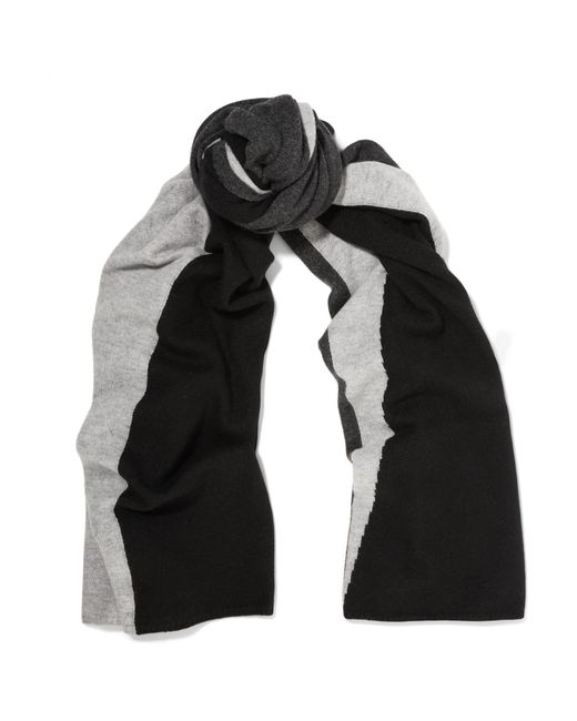 Magaschoni | Black Color-block Cashmere Scarf | Lyst