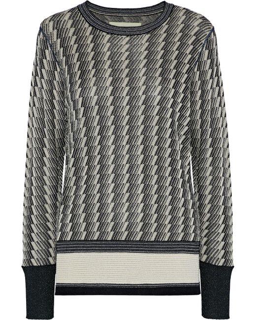 By Malene Birger - Woman Bilijean Metallic Jacquard-knit Sweater Black - Lyst
