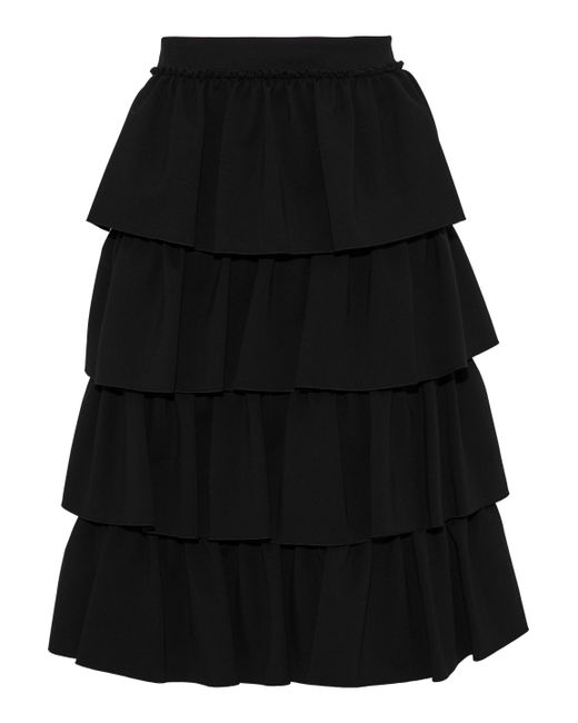 Simone Rocha - Black Tiered Cady Skirt - Lyst