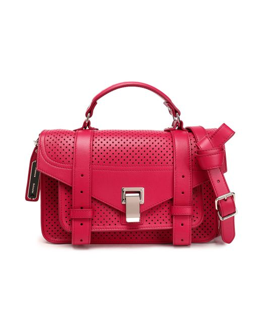 Proenza Schouler - Red Ps1 Perforated Leather Shoulder Bag - Lyst