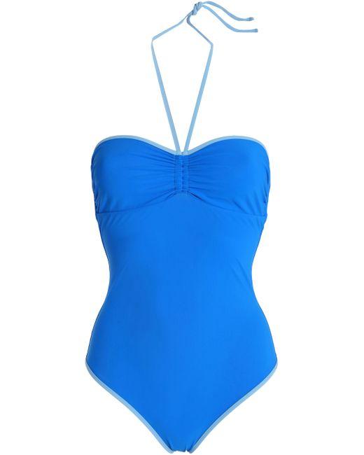 Diane von Furstenberg - Blue Ruched Swimsuit - Lyst