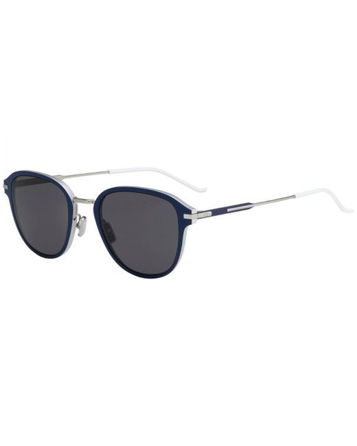 f51e3cea90b Dior Homme - Blue Navy And White Frames With Polarized Black Lenses  Sunglasses 13.9 Tcy
