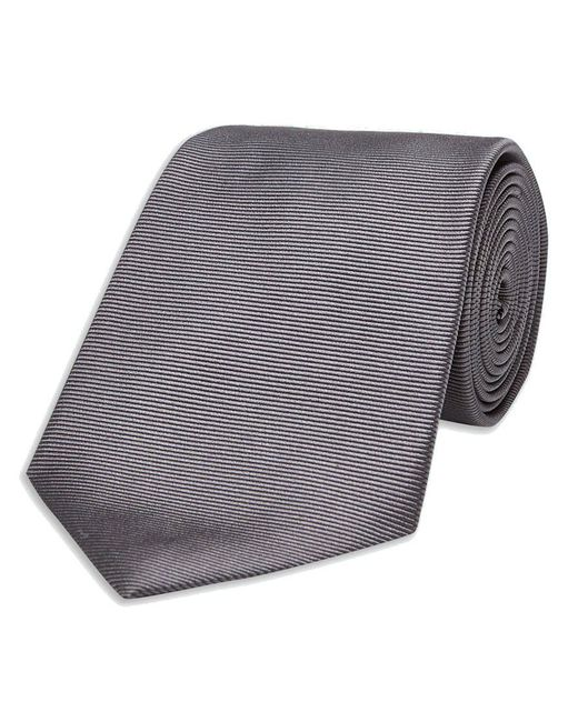 Turnbull & Asser - Gray Dark Grey Twill Silk Tie for Men - Lyst