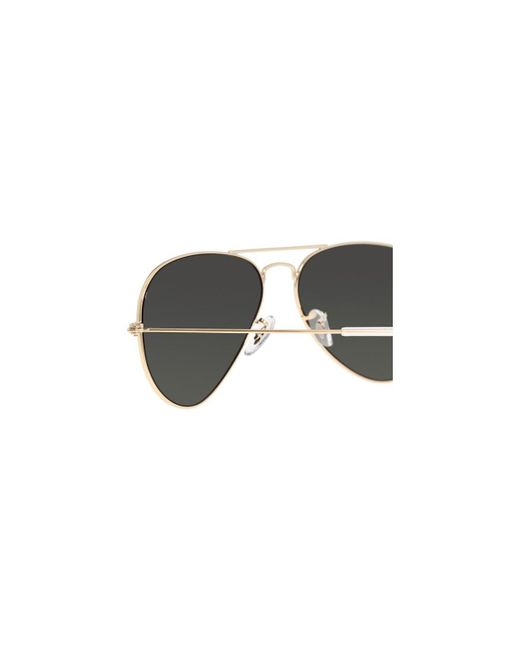 01d3cc2638 ... Ray-Ban - Metallic Aviator Classic Rb3025 001 58 Gold With Green  Polarized Lenses ...