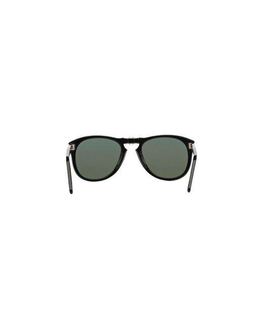 6a0cc9f672 ... Persol - Icons Po0714 Steve Mcqueen 95 58 Folding Black With Green  Polarized Lenses Sunglasses ...