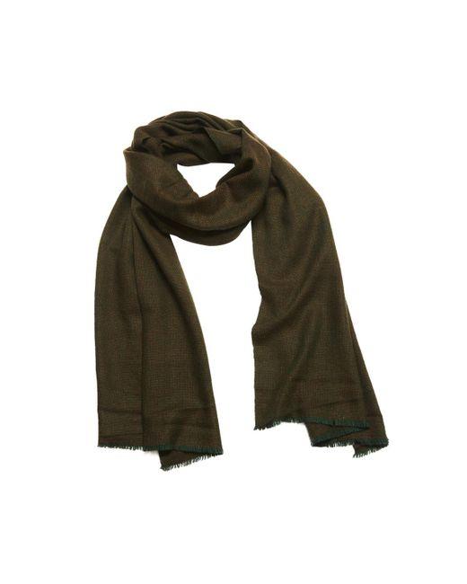 Anderson & Sheppard - Green Loden Birdseye Weave Cashmere Scarf - Lyst