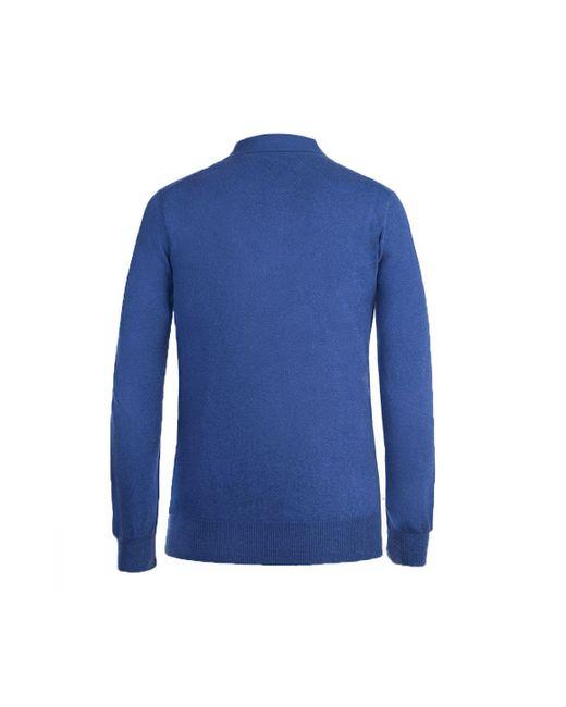 04d7ab627 ... Rubinacci - Blue Long Sleeve Cashmere Polo Shirt for Men - Lyst ...