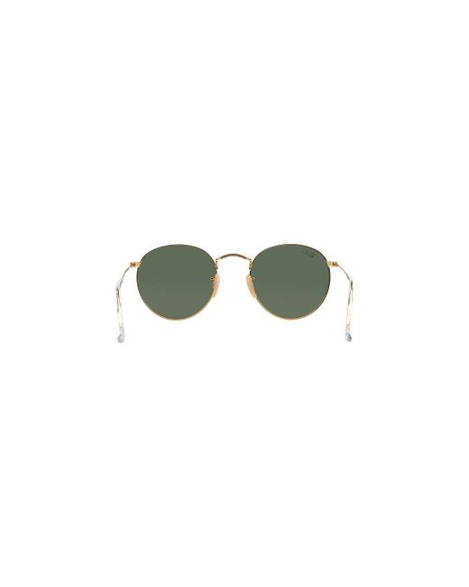 f12c41070a6 ... Ray-Ban - Metallic Round Metal Rb3447 001 Gold And Green Lenses  Sunglasses for Men ...