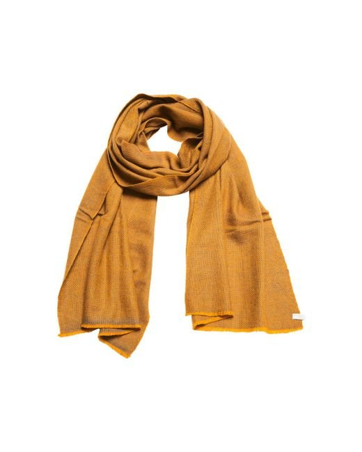 Anderson & Sheppard - Metallic Gold And Grey Birdseye Weave Cashmere Scarf for Men - Lyst