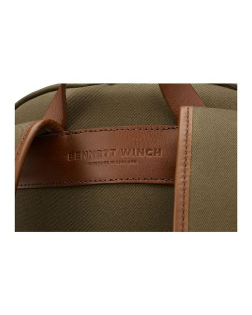 54a5a468b6df ... Bennett Winch - Green Olive Canvas And Leather Backpack for Men - Lyst  ...