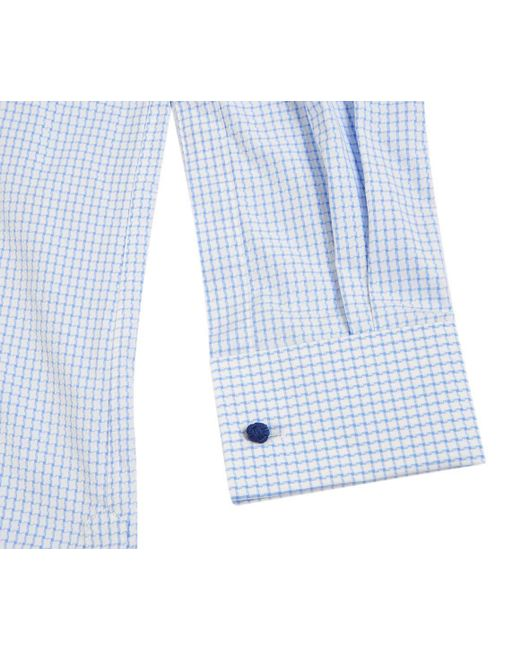 Outlet 100% Guaranteed For Cheap For Sale Blue and White Fine Houndstooth Cotton Shirt Chester Barrie jDyuDeb