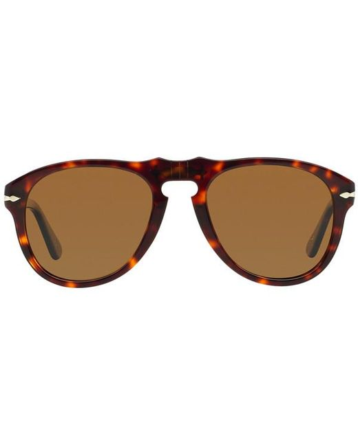 7016e07376 Persol - Icons Po0649 24 57 Havana With Crystal Brown Lenses Sunglasses for  Men ...