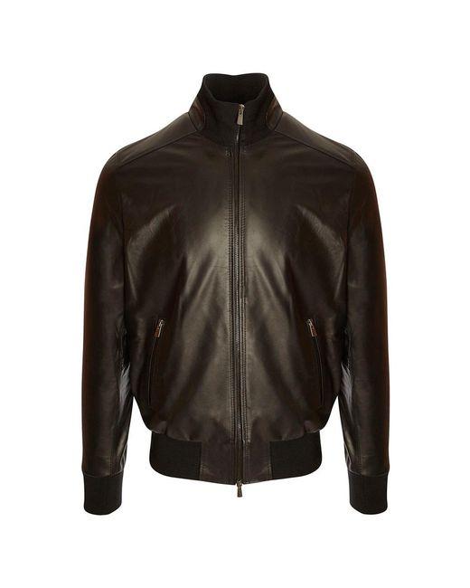 2d696c4f27 Belsire Black Leather Biker Jacket in Black for Men - Lyst