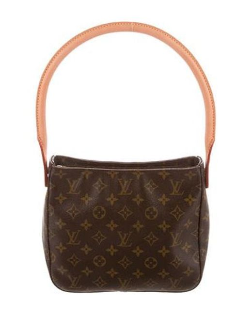 9b055340065f Louis Vuitton - Natural Monogram Looping Mm Brown - Lyst ...