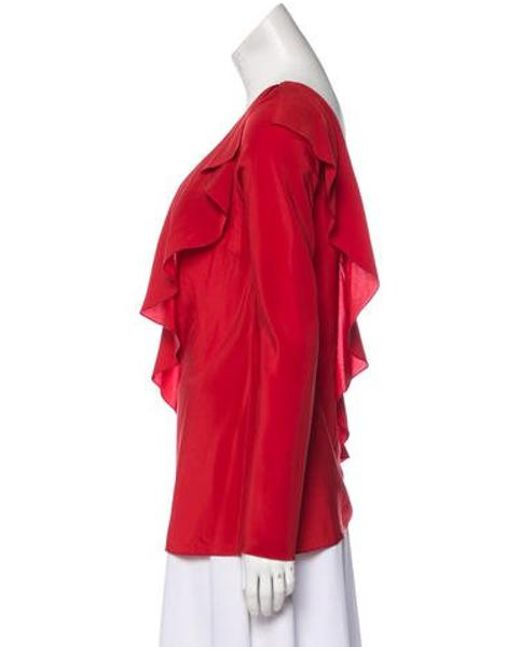 bb289b75bd7364 ... Diane von Furstenberg - Red Silk One-shoulder Top - Lyst ...