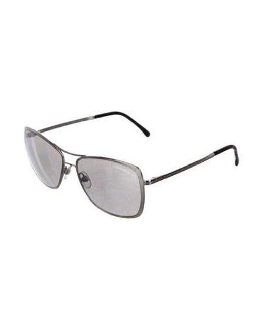 3a30eb6c874a ... Chanel - Metallic 2017 Summer Pilot Sunglasses Silver - Lyst ...