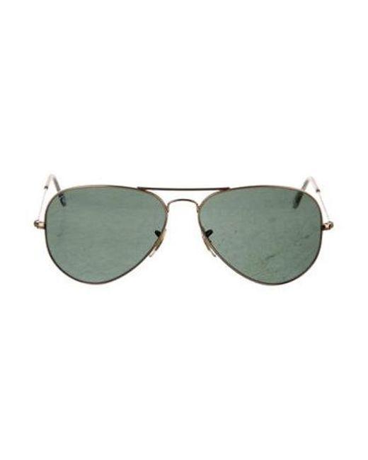 768a9e580a Ray-Ban - Metallic Polarized Aviator Sunglasses Gold - Lyst ...