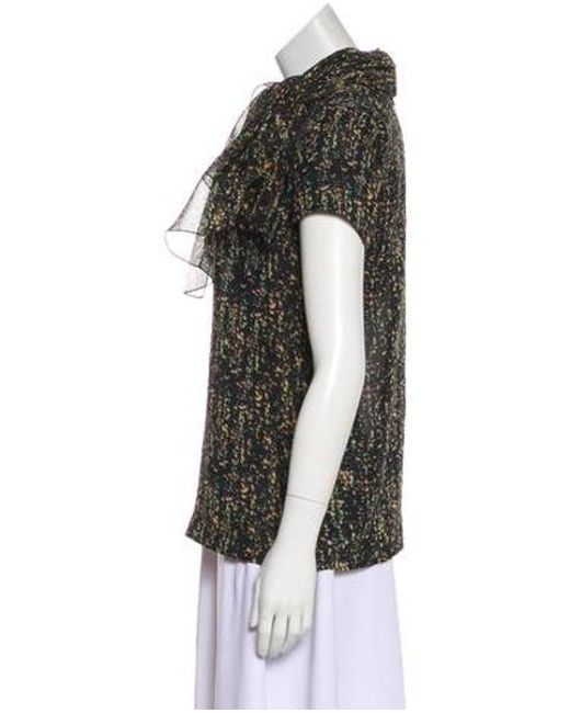 c325101a2c ... Giambattista Valli - Black Printed Silk Top - Lyst ...