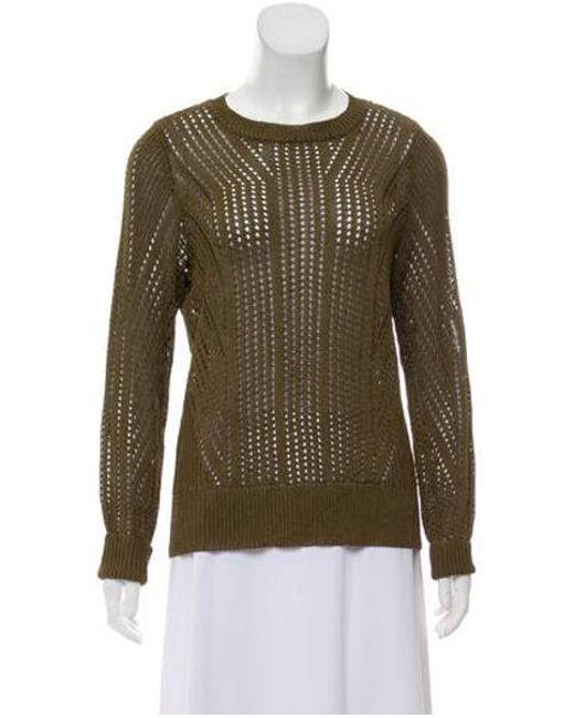 Lyst - Rag   Bone Open Knit Medium-weight Sweater Olive in Green 4dbad11d5