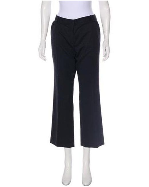 a9e9139c814f Tory Burch - Gray Mid-rise Wide-leg Pants Grey - Lyst ...