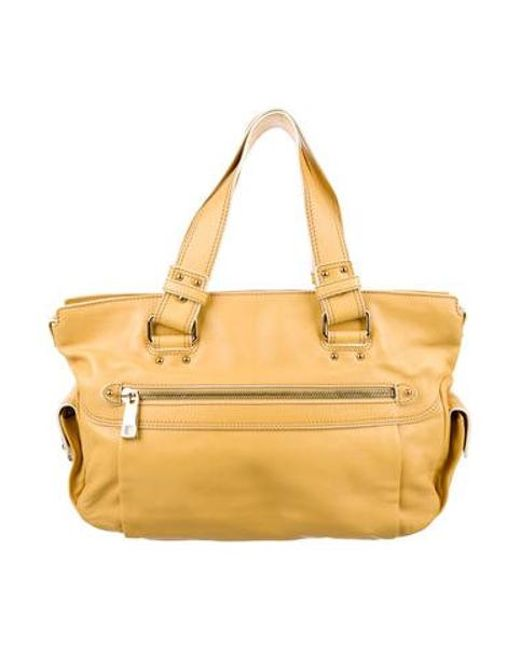Marc Jacobs - Metallic Pebbled Leather Shoulder Bag Yellow - Lyst
