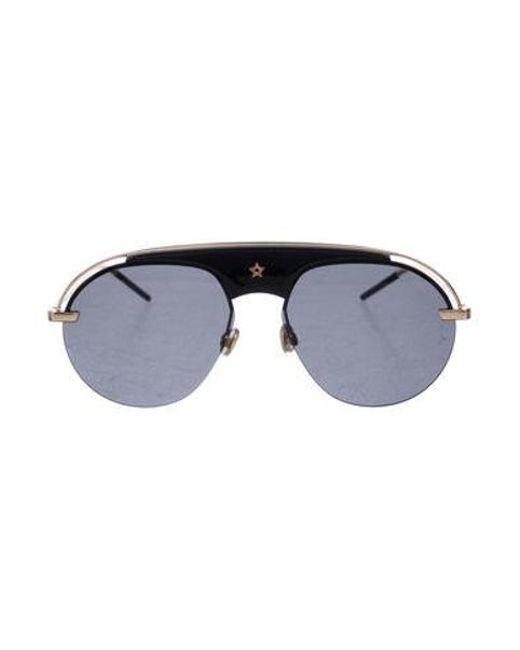 141b983fb2c76 Dior - Metallic (r) Evolution Aviator Sunglasses Black - Lyst ...