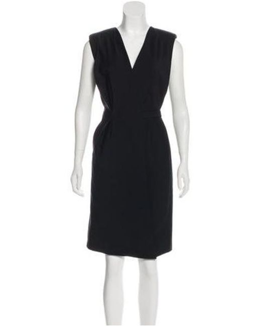 Lyst J Mendel Sleeveless Sheath Dress In Black