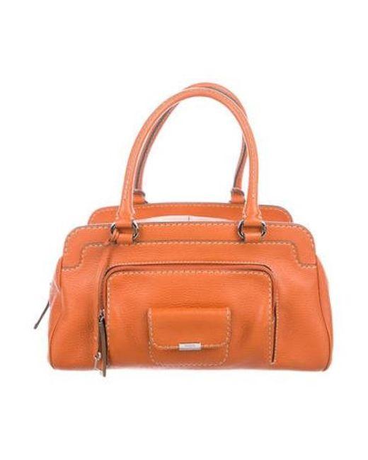 7d67c45d9f Tod s - Metallic Leather Shoulder Bag Orange - Lyst ...