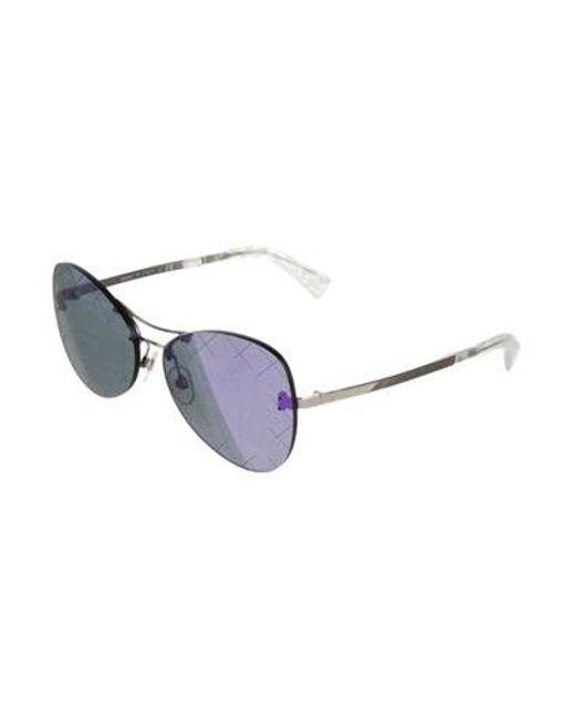 9cb3a008bbc4 ... Chanel - Metallic 2016 Mirrored Pilot Sunglasses Silver - Lyst ...