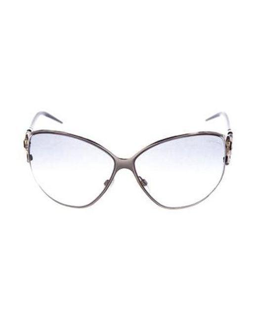 b303429014c Roberto Cavalli - Metallic Oversize Gradient Sunglasses Silver - Lyst ...