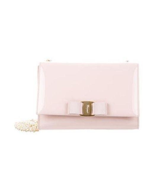 4c1933f0084b Ferragamo - Metallic Vara Ginny Crossbody Bag Pink - Lyst ...