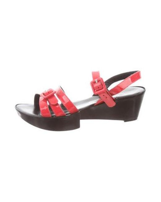 c1706c5496f Robert Clergerie - Pink Round-toe Platform Sandals Coral - Lyst ...