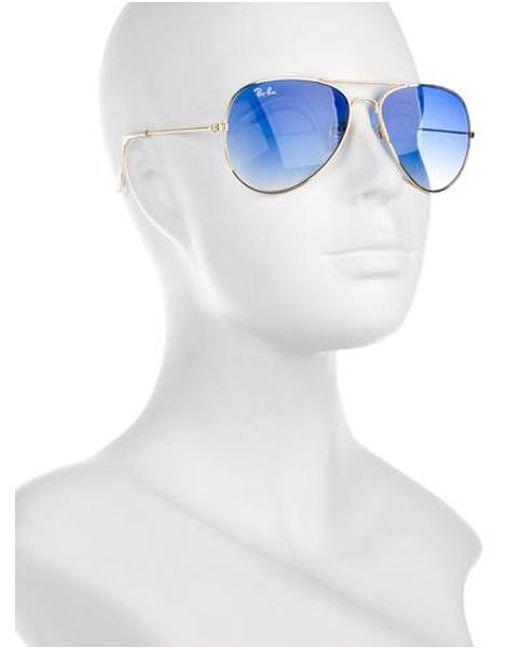 lyst ray ban gradient aviator sunglasses in blue Ray-Ban Aviator Pilot ray ban blue gradient aviator sunglasses lyst