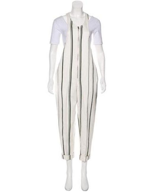 57f2fc53b60 3.1 Phillip Lim - White Sleeveless Striped Jumpsuit - Lyst ...