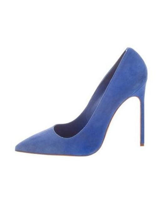 50a552aa6a68 Manolo Blahnik - Blue Bb Suede Pointed-toe Pumps - Lyst ...