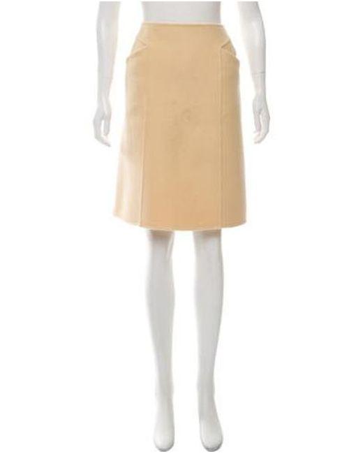 859a2a91e Bottega Veneta - Natural Cashmere A-line Skirt Tan - Lyst ...
