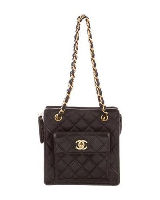 545becc0f746 Chanel - Metallic Vintage Quilted Mini Tote Black - Lyst ...