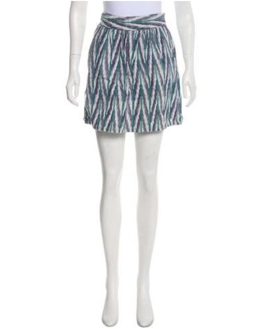 fad57768e2 Steven Alan - Green Patterned Mini Skirt - Lyst ...
