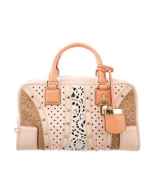 Loewe - Metallic Floral Leather Handle Bag Tan - Lyst ... cc79cff945b79