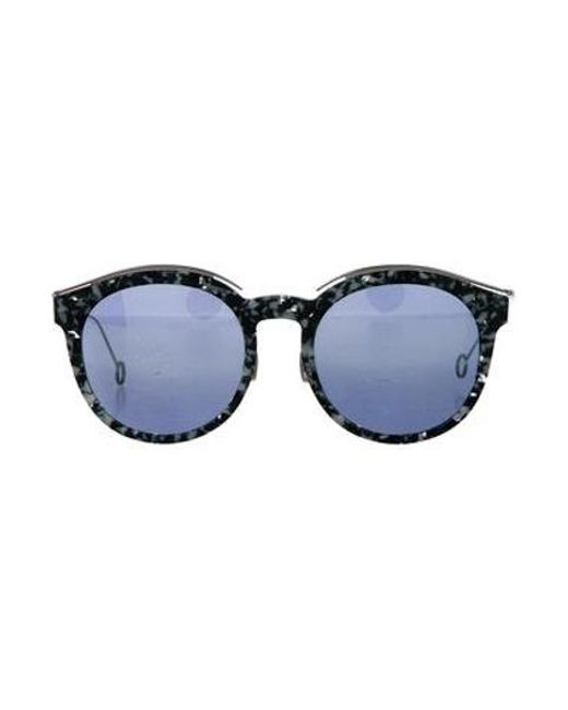 7199e19684e1 Dior - Metallic Round Mirrored Sunglasses Green - Lyst ...
