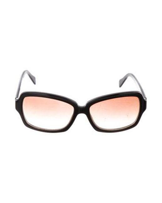 63bf30fe2d25 Chanel - Gray Cc Square Sunglasses Black - Lyst ...