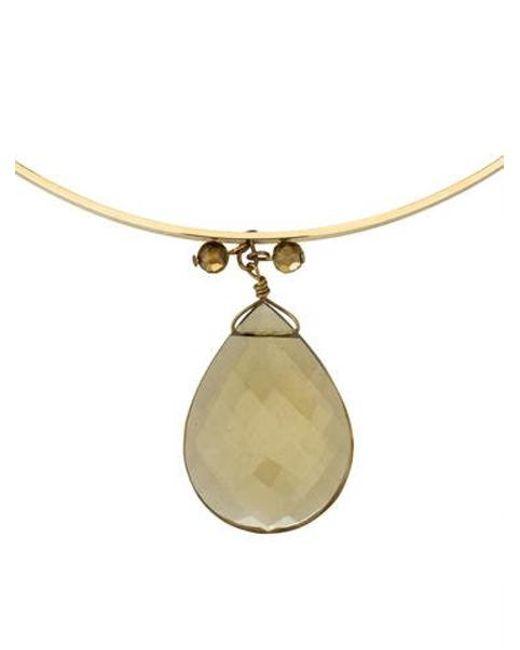 Erickson Beamon - Metallic Necklace Gold - Lyst