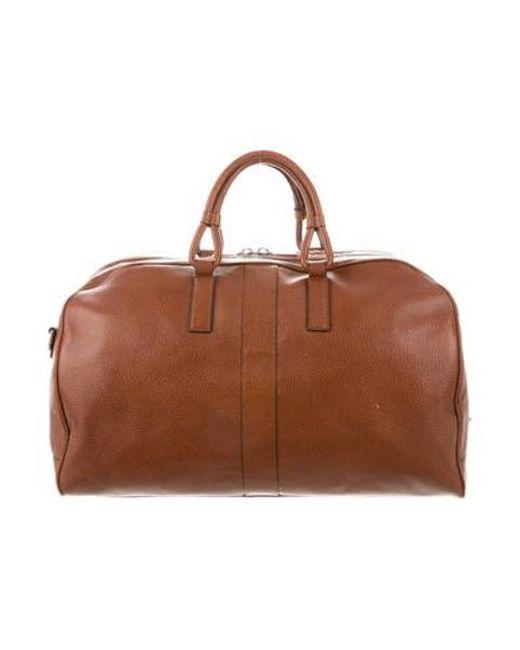 93e83d992796 Michael Kors - Brown Pebbled Leather Weekender for Men - Lyst ...