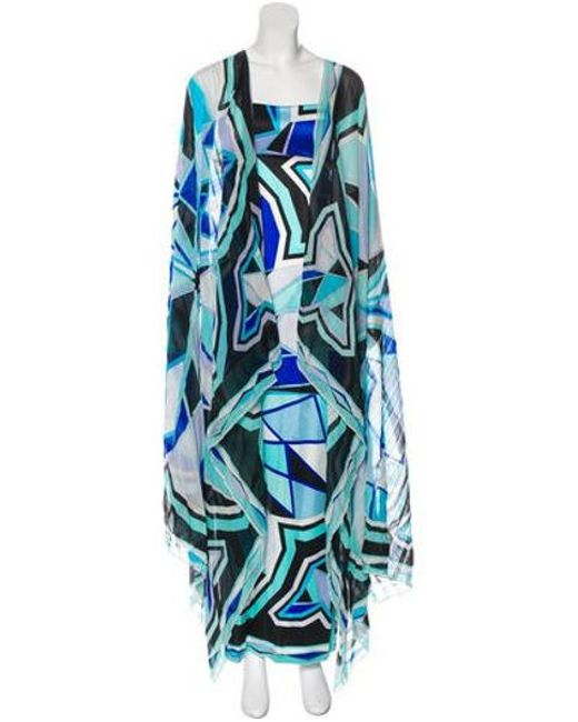 afe33ddcdfb56 Emilio Pucci - Blue Strapless Maxi Dress Turquoise - Lyst ...